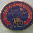 US Army Common Ground Station pin Motorola Goldtone Metal
