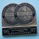 Continental Pin Frequent Traveler Satisfaction JD Powers 1997