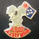 Souvenir Brooch Koala Pin Australia Nu Color Vue