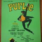 Purlie Sheet Music Peter Udell Gary Geld 1970 Mourbar