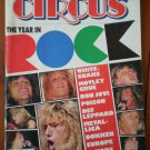 Circus Magazine Dec 31, 1987 Year in Rock White Snake Motley Crue Bon Jovi Poison