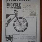 Murray Bicycle Instruction Book F94053 Safety Assembly Operation Maintenance