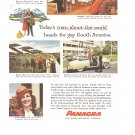 Vintage Ad Panagra Airlines 1958 Pan American-Grace Airways South America