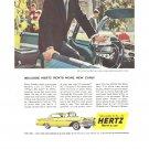 Vintage Ad Hertz Rent A Car 1958 Bennett Cerf CBS TV What's My Line