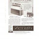 Vintage Ad Zenith All Transistor Trans Oceanic Radio 1958