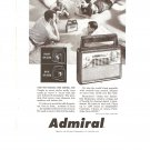 Vintage Ad Admiral Portable Radio 1958 Front Back Speakers