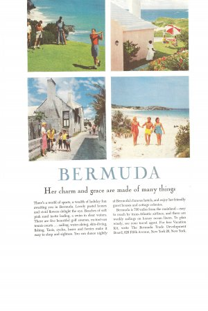 Vintage Ad Bermuda 1958 Golf Beach
