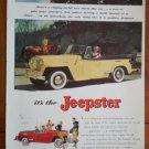 Vintage Ad Jeepster 1948 Yellow Willys Overland Motors