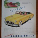 Vintage Ad Futuramic Oldsmobile 1948 Yellow Frank Lloyd Wright architecture