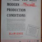 Vintage Ad Blaw-Knox 1948 Engineering Production