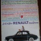 Vintage Ad Renault Dauphine Car 1960s