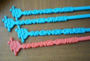 Vintage Swizzle Sticks Sundance Cruises Lot 4 Plastic