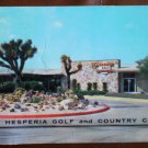 Vintage Golf Scorecard Hesperia Golf Country Club California