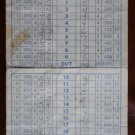 Vintage Golf Scorecard Harding Municipal Golf Course Griffith Park 1961
