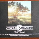 Vintage Golf Scorecard Circle Ranch Golf Resort Escondido CA