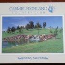 Vintage Golf Scorecard Carmel Higland Country Club San Diego CA