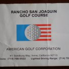 Vintage Golf Scorecard Rancho San Joaquin Golf Course Irvine CA