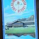 Vintage Golf Scorecard Rainbow Canyon Golf Resort Temecula CA