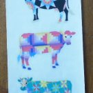 Sandylion Patchwork Cow Stickers 4/sheet Quilt Design Cattle