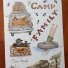 Susan Branch Stickers Camping Perfect Vacation Tent Family