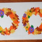 Mrs Grossman Fall Wreath Sticker Stickers by the Yard 1995