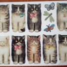 Mrs Grossman Gifted Line Kitties All in a Row John Grossman Stickers Cats STK