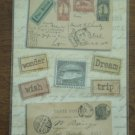 Marcella Kay Embossed Stickers Script Stamps Postcards 141063
