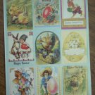 Easter Stickers Victorian Images 9/sheet Bunny Eggs Chicks