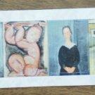 Modigliani Stickers Women Portraits Paintings 6 stickers/sheet