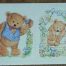 Hallmark Stickers Teddy Bear 4/sheet Vintage 1999