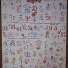 Alphabet Flowers Stickers Scrapbooking Crafts Floral Letters