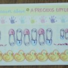 Personal Stamp Exchange Stickers New Born Borders SR1204 PSX