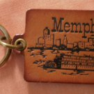 Memphis Leather Key Chain Ring TN Vintage Keychain