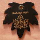 Niagara Falls Leather Key Chain Maple Leaf Ring Canada Vintage Keychain