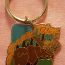 Grand Tetons Key Chain Ring Wyoming Moose Vintage Keychain
