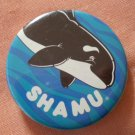 Sea World Shamu Pin Button Killer Whale Orca