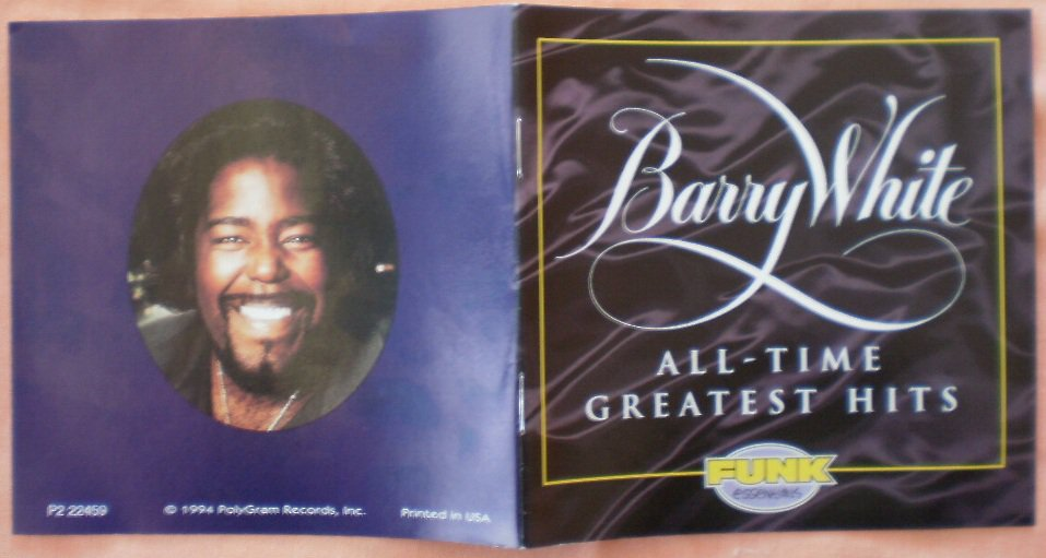 Insert Cover for Barry White All Time Greatest Hits No CD