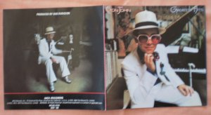 Insert Cover for Elton John Greatest Hits No CD
