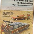 Vintage Ad Ford Wagons 13 Years in a Row 1978 2 pages