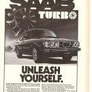Vintage Ad Saab Turbo Performance Car 1978