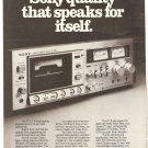 Vintage Ad Sony Audio Stereo Cassette DECK TC-K7 II 1978 2 pages
