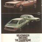 Vintage Ad Volkswagen Champagne Edition II Rabbit Dasher Beetle Bus Scirocco 1978 4 pages