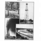 Oklahoma Oil Wells Plate Print 1936 Book