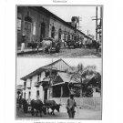 Nicaragua Managua Street Scene Grand Hotel Lupone Plate Print 1936 Book