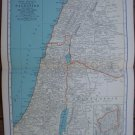 Palestine Map Rand McNally Popular Plate Print 1936 Book