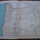 Oregon Map Rand McNally Popular Plate Print 1936 Book