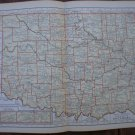 Oklahoma Map Rand McNally Popular Plate Print 1936 Book