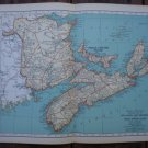 Nova Scotia New Brunswick Prince Edward Island Map Rand McNally Popular Plate Print 1936 Book