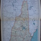 New Hampshire Map Rand McNally Popular Plate Print 1936 Book