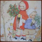 Mabel Lucie Attwell Note Card Barnardos 1999 The Christmas Robin Barnardos